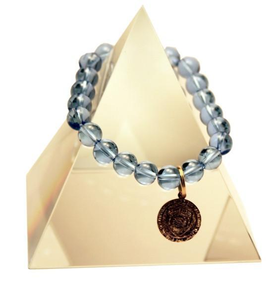 144 New Product - EMF Harmonizing Jewelry Light Blue Quartz Bracelet - Quantum EMF Protectors