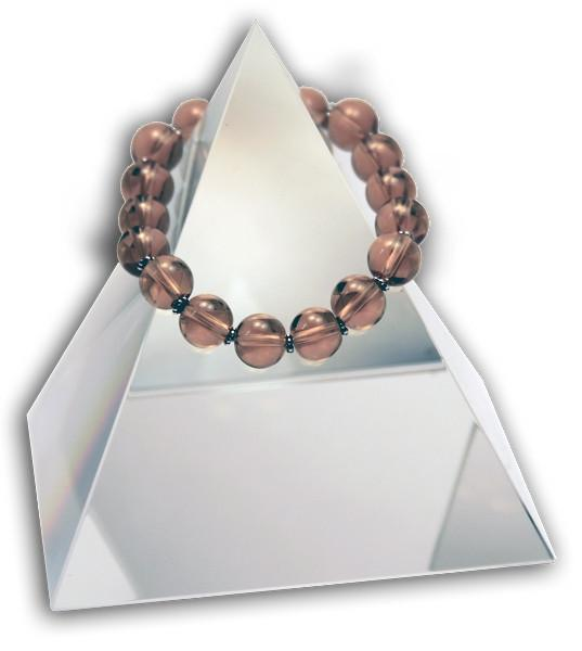 149 New Product - EMF Harmonizing Jewelry Smokey Quartz Globe Tan - Quantum EMF Protectors