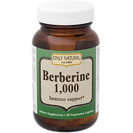 Only Natural Berberine 1000mg for Immune Support (50 Capsules)