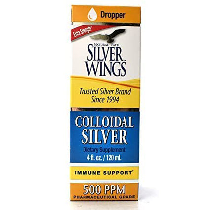 Natural Path Colloidal Silver Immune Support - 500 PPM (4 Fluid Ounces)