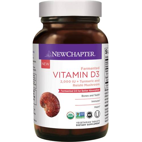 New Chapter Vitamin D3 - 60 Vegan Tablets