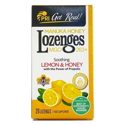 PRI Manuka Honey Lozenges - Lemon & Honey
