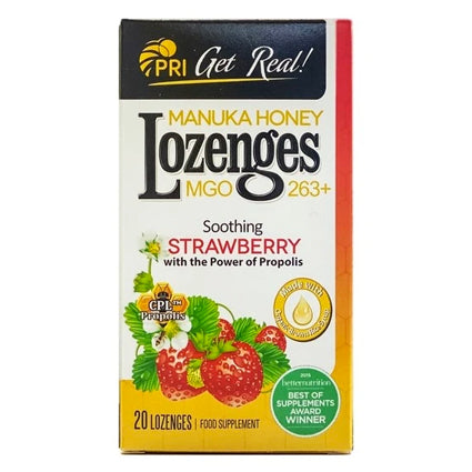 PRI Manuka Honey Lozenges - Strawberry