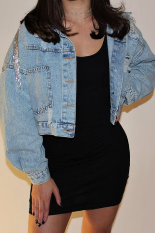 ICED OUT DENIM JACKET