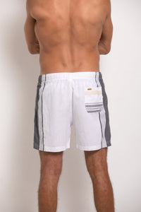 Hipster  Shorts - White & Grey