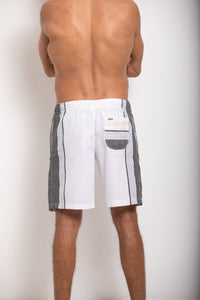 Chief Shorts- White and Grey