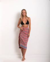 Load image into Gallery viewer, Sarong - Red and Black Stripe