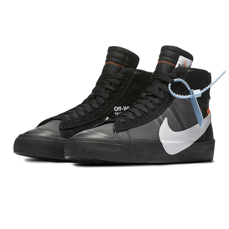 d55acaf9518f1 ... Load image into Gallery viewer, Nike Blazer Mid Off-White Black Grim  Reaper ...