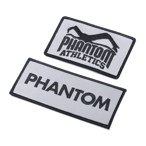 Phantom Athletics Aufnäher Patch Reflektierend Reflective Silber Flash für Rucksack Tasche Gymbag Feuerwehr Gewichtsweste