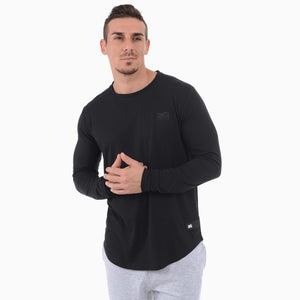 Phantom Athletics T-Shirt Sonic Shirt Langarm Longsleeve Sportlich Freizeit Black Schwarz fashion