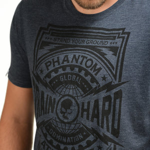 Phantom Athletics T-Shirt Domination Tee Shirt Kurzarm Shortlseeve Sportlich Freizeit Blue Blau Navy