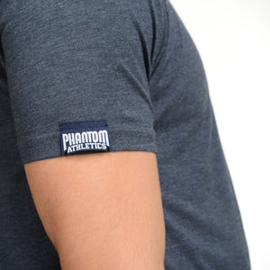 Phantom Athletics T-Shirt Team Tee Shirt Kurzarm Shortsleeve Sportlich Freizeit Navy blau blue Meliert