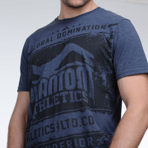 Phantom Athletics T-Shirt Elite Tee Shirt Kurzarm Shortlseeve Short Sleeve Sportlich Freizeit Blue Blau Navy