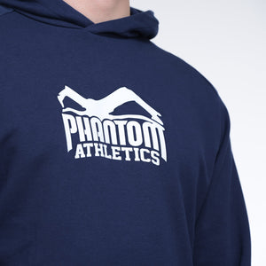 Phantom Athletics Team Hoodie kapuze Trainingshoodie Training Freizeit Sport Langarm Navy Blau Blue