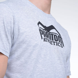 Phantom Athletics T-Shirt Team Tee Shirt Kurzarm Shortsleeve Sportlich Freizeit Gray Grau melange Meliert