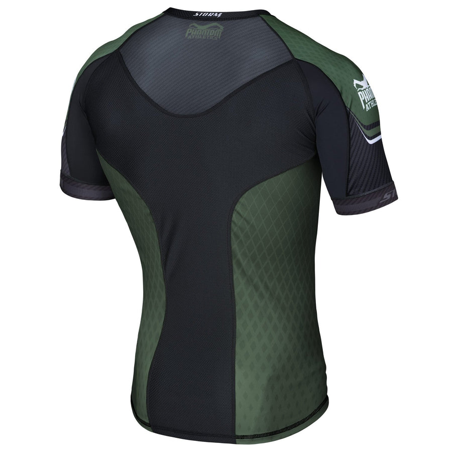 Phantom Athletics Kompressionsshirt Storm Nitro Compression Shirt Short-sleeve Rashguard Grün Green Carbon