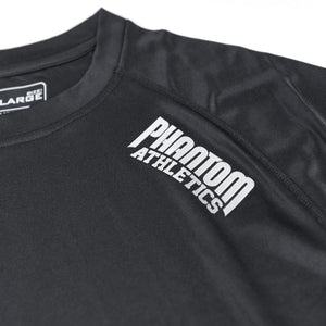 Phantom Athletics Tactic Training Shirt Trainingsshirt T-Shirt Kurzarm Short-Sleeve T-Shirt Schwarz Black