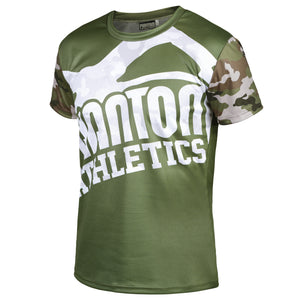 Phantom Athletics EVO Trainingsshirt Training Shirt T-Shirt Kurzarm Camo Warfare Woodland Workout Camouflage