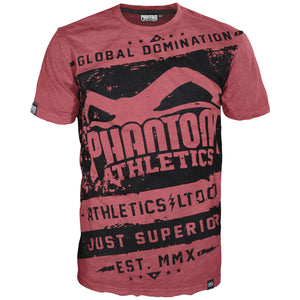 Phantom Athletics Walkout T-Shirt Training Freizeit Sport Shirt Kurzarm Männer Herren Men Man Rot Red