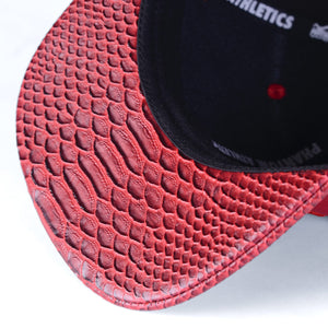 Phantom Athletics Cap Red Croco Python Flatbill Snapback