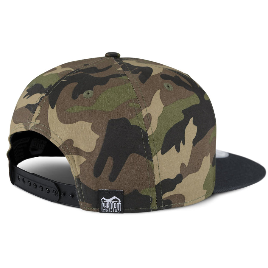 Phantom Athletics Cap Team Kappe Snapback Hat Logo Woodland Camo Camouflage Black Schwarz