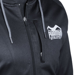 Phantom Athletics Stealth Hoodie Trainingshoodie Training Freizeit Sport Langarm Schwarz Black Zip
