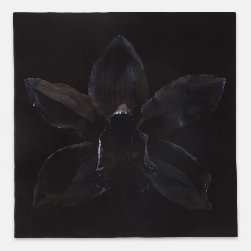 Silk Scarf - Black Stealth Desire