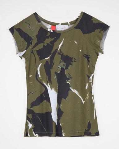 Flesh / Camo Green (ladies)