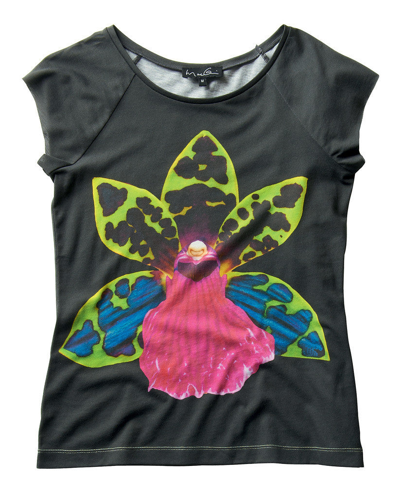Ladies Green Orchid T-shirt