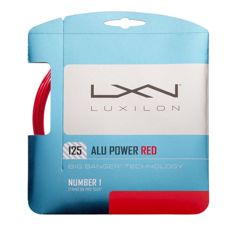 Luxilon 125 Alupower 16L (1.25) - Red - Luxilon - Rackets Express