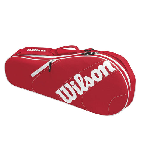 Wilson Advantage Team Triple Bag - Red/White