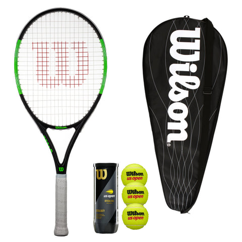 Wilson Blade Pro Tennis Racket with Head Cover & Balls