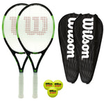 Wilson Blade Pro 105 Tennis Pack - 2 Rackets + 2 Covers + 3 Balls