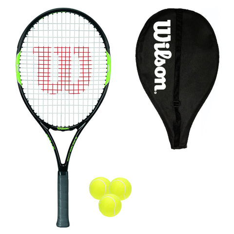 Wilson Blade Team 25 Junior Tennis Racket + Cover + 3 Balls
