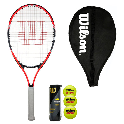 Wilson Federer 25 Junior Tennis Racket with Cover & 3 Balls
