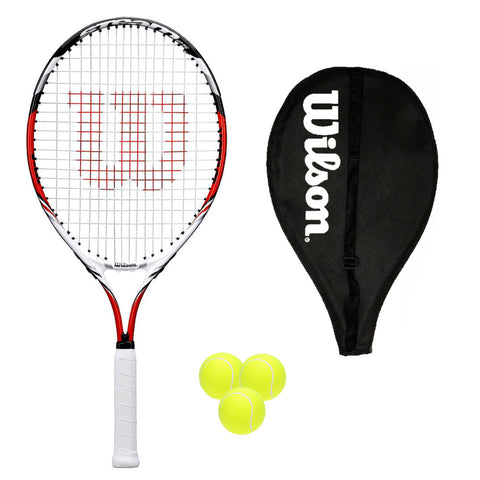 Wilson Steam 25 Junior Tennis Racket + Cover + 3 Balls