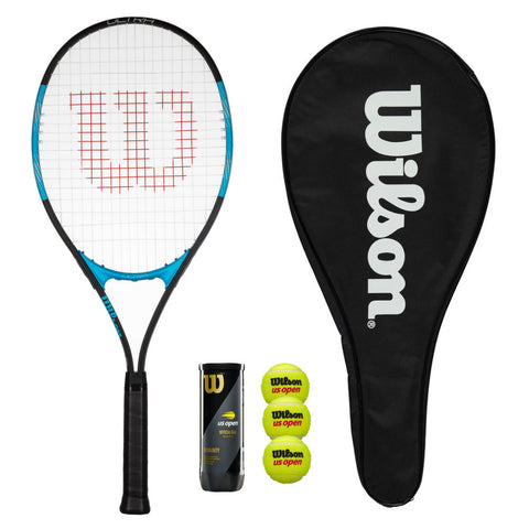 Wilson Ultra Excel 112 Tennis Racket with Head Cover and Balls