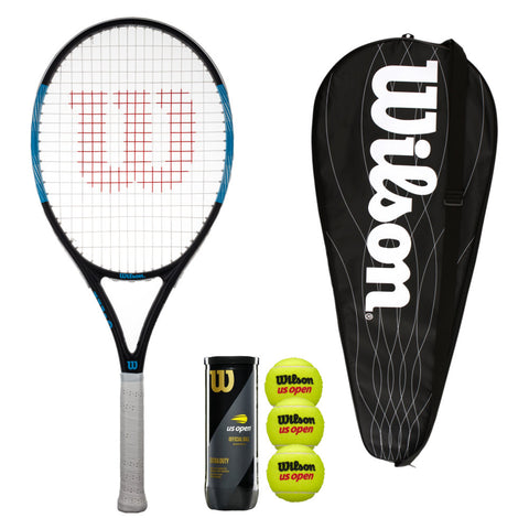 Wilson Ultra Pro 105 Tennis Racket with Head Cover & Balls