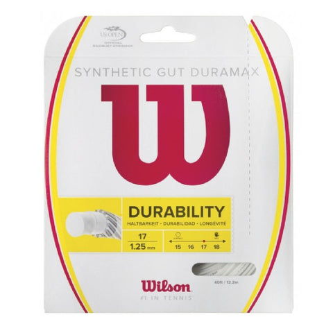 Wilson Synthetic Gut Duramax 16/17 - White - Wilson - Rackets Express