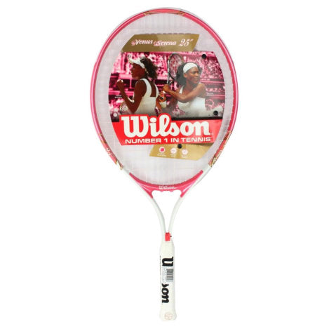 Wilson Venus & Serena 25 Junior Tennis Racket - Pink - Wilson - Rackets Express