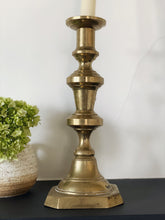 Load image into Gallery viewer, Solid Brass Candle Holder