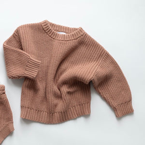 Chunky Knit Sweater in Claypot