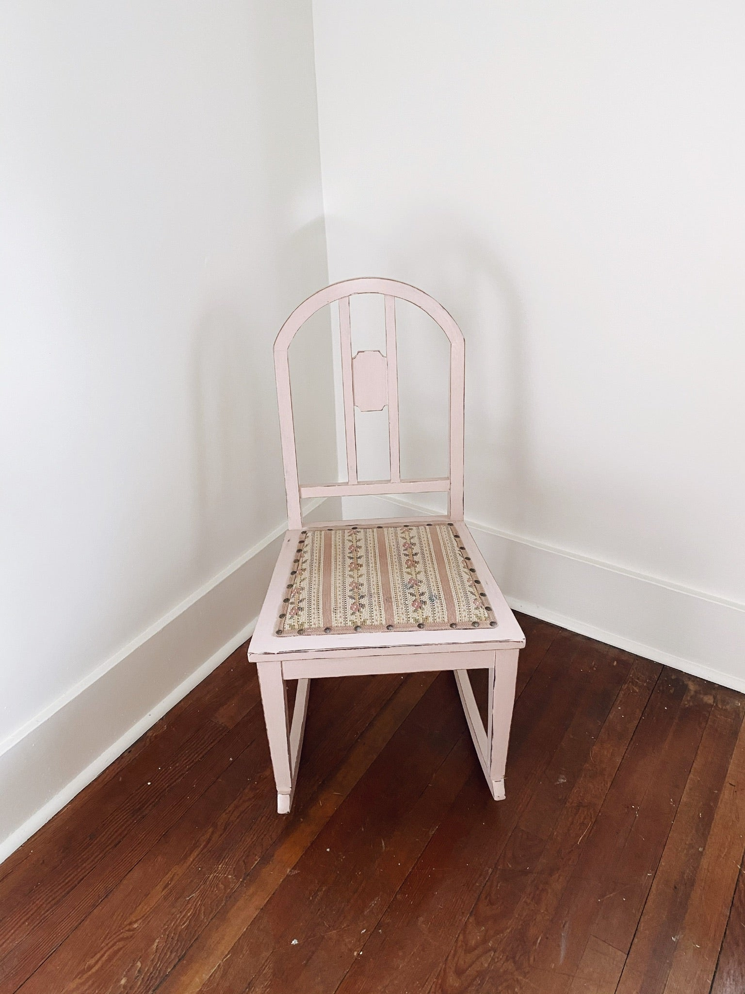 Pastel Pink Rocking Chair