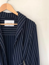 Load image into Gallery viewer, Pin Stripe Tie Waist Shirt