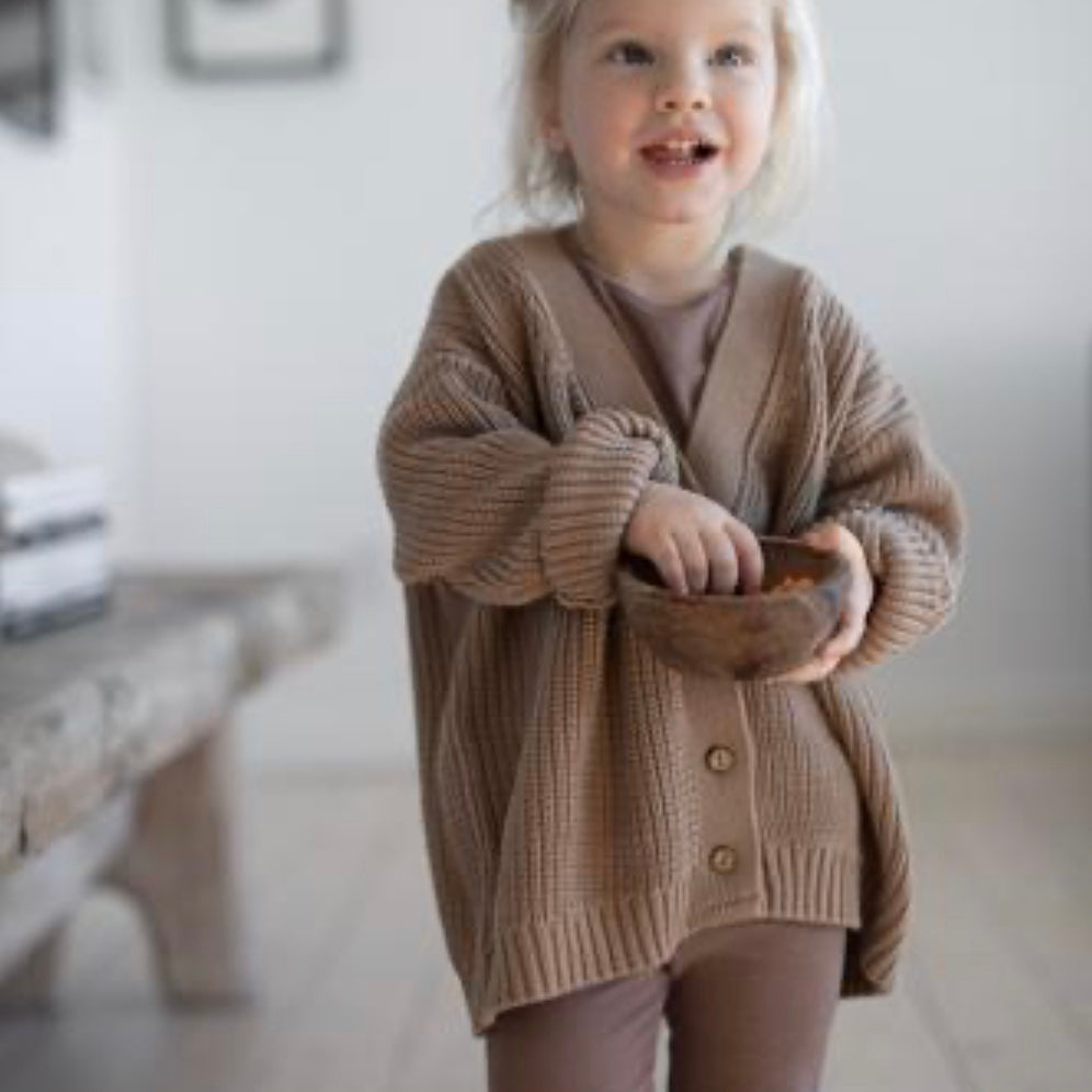 Knit Cardigan in Camel