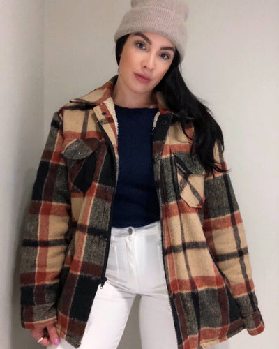 Sherpa Lined Flannel Jacket