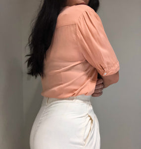 Peach Silk Shirt (4426416652406)