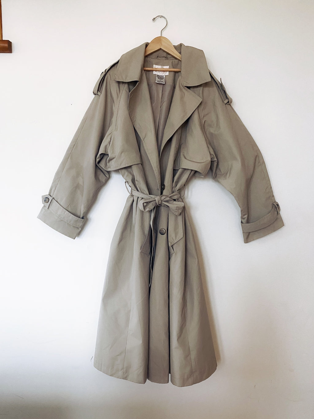 Soft Taupe Trench