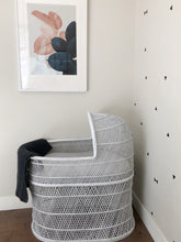 Load image into Gallery viewer, Vintage White Rattan Bassinet