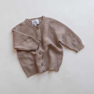 Baby Knit Cardigan in Hazelnut